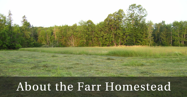 About the Farr Homestead- a family farm in Troy, Maine